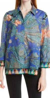 KOBI HALPERIN Blake Print Tunic Blouse