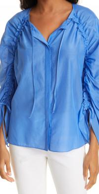 KOBI HALPERIN Fatima Cotton & Silk Top