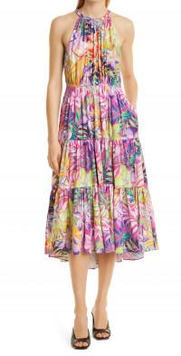 KOBI HALPERIN Hope Sleeveless Midi Dress