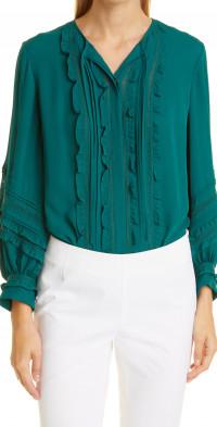 KOBI HALPERIN Layne Long Sleeve Silk Blouse