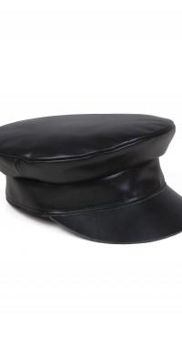 Women's Lack Of Color Leather Biker Cap - Black