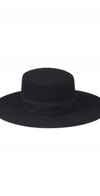Women's Lack Of Color The Sierra Wool Boater Hat - Black