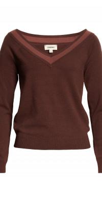L'AGENCE Antoinette V-Neck Sweater