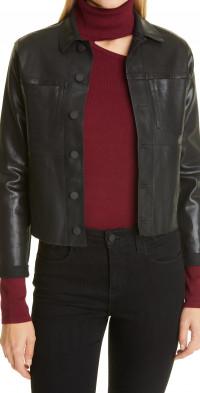 L'AGENCE Janelle Slim Fit Coated Jacket