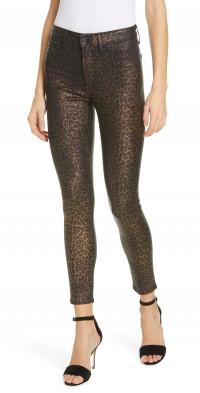 L'AGENCE Margot Metallic Coated Crop Skinny Jeans