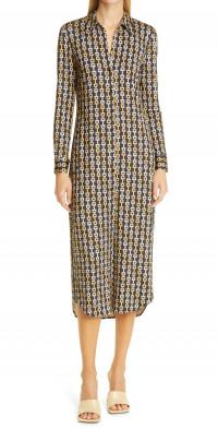 L'AGENCE Raelynn Printed Shirt Dress