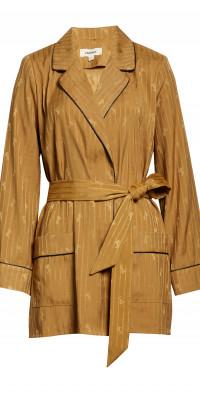 L'AGENCE Skyler Jacquard Wrap Jacket