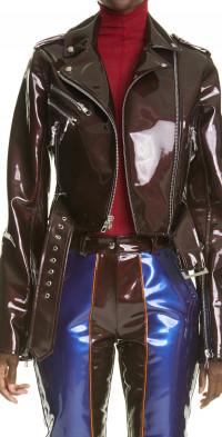 LaQuan Smith PVC Biker Jacket