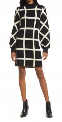 Lost + Wander It's Classic Mock Neck Sweater Dress