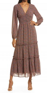 Lost + Wander Love in Bloom Long Sleeve Maxi Dress