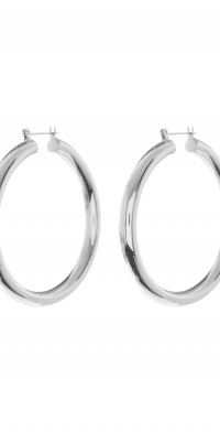 Luv AJ Amalfi Tube Hoop Earrings in Silver at Nordstrom