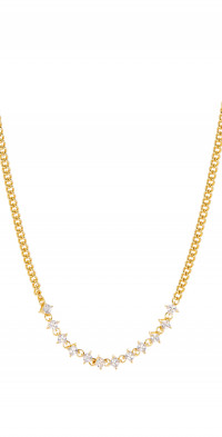 Luv AJ Ballier Curb Chain Necklace in Gold at Nordstrom