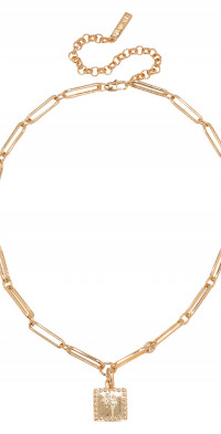 Luv AJ Roma Pendant Link Necklace in Gold at Nordstrom