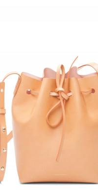 Mansur Gavriel Mini Leather Bucket Bag in Cammello/Rosa at Nordstrom