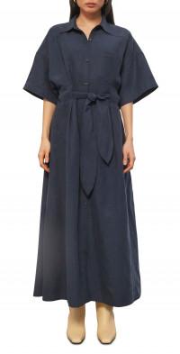 Mara Hoffman Ayao Linen Blend Short Sleeve Dress