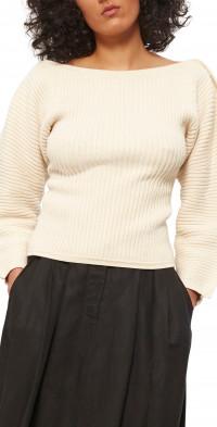 Mara Hoffman Nasira Balloon Sleeve Stretch Organic Cotton Sweater
