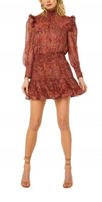MISA Los Angeles Gianna Long Sleeve Chiffon Minidress
