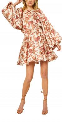 MISA Los Angeles Kara Long Sleeve Minidress