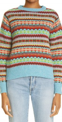 Women's Molly Goddard Carla Fair Isle Wool Sweater