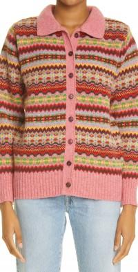 Women's Molly Goddard Harper Fair Isle Wool Cardigan