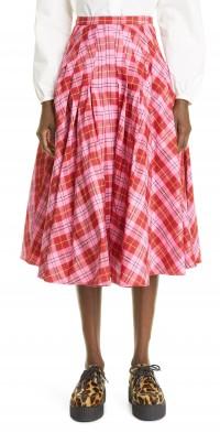 Women's Molly Goddard Henri Tartan Pleated Skirt