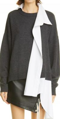 MONSE Hybrid Wool & Cotton Sweater