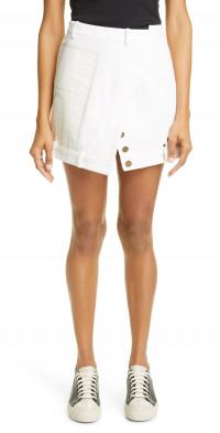 MONSE Upside Down Denim Miniskirt