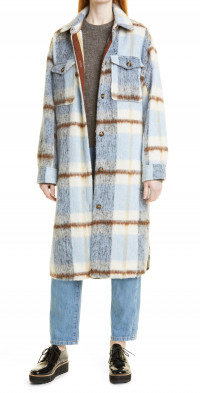MUNTHE Rei Wool & Recycled Polyester Blend Longline Coat