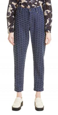 MUNTHE Riggs Dobby Crop High Waist Jeans