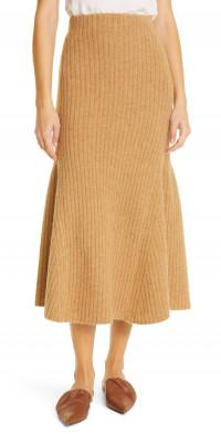 Nanushka Alyna Rib Knit Twirl Skirt