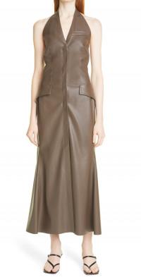 Nanushka Massey Sleeveless Faux Leather Dress