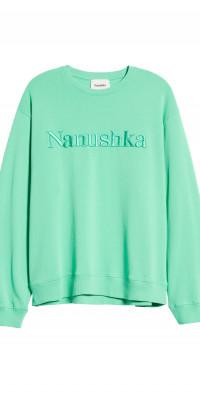 Nanushka Remy Embroidered Organic Cotton Sweatshirt