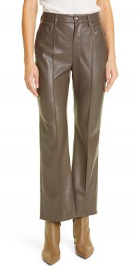 Nanushka Zoey Faux Leather Kick Flare Pants