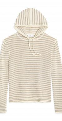 Onia Frank Stripe Linen Hooded Sweater