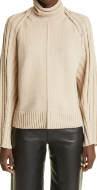 Peter Do Grace Sleeveless Wool Blend Turtleneck Sweater & Bolero Set