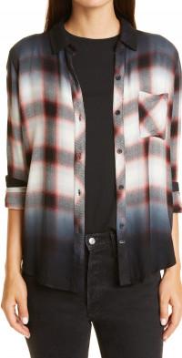 Rails Hunter Ombre Plaid Button-Up Shirt