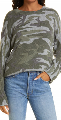 Rails Juno Camo Crewneck Sweater