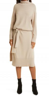 Rails Mila Tie Waist Turtleneck Sweater Dress