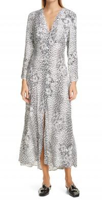Women's Rixo Katie Mixed Print Midi Dress