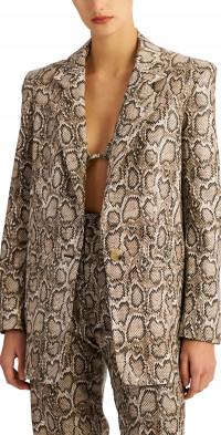 Ronny Kobo Annabelle Snake Print Jacket