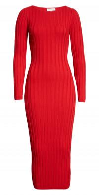 Ronny Kobo Kaleigh Wide Rib Maxi Sweater Dress