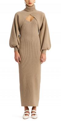 Ronny Kobo Lalu Long Sleeve Shrug & Sleeveless Maxi Sweater Dress