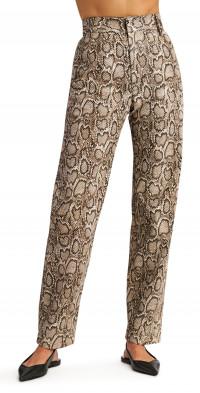 Ronny Kobo Marley Snake Print High Waist Pants
