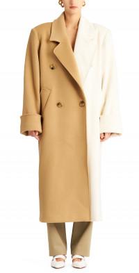 Ronny Kobo Minka Colorblock Wool Coat