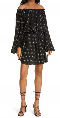 ROTATE Carly Flounce Long Sleeve Dress