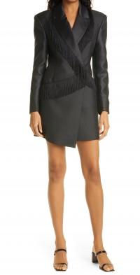 Women's Rotate Shannon Fringe Long Sleeve Blazer Dress