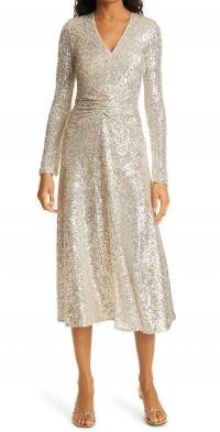 Women's Rotate Sierra Sequin Long Sleeve Midi Dress