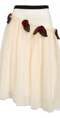 Sandy Liang Recital Rosette Tulle Skirt