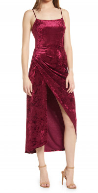Saylor Cyndey Velvet Midi Dress