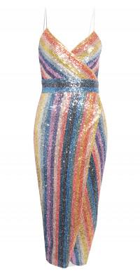 Saylor Meghan Faux Wrap Maxi Dress